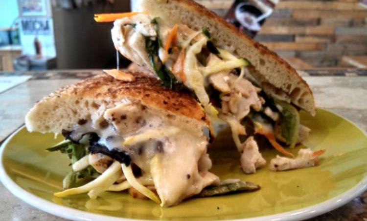 grilled chicken with garden vegetable & dijion mayo